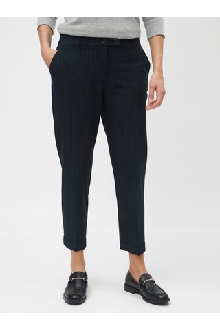 Pantaloni albastru inchis cu dungi subtiri Dorothy Perkins