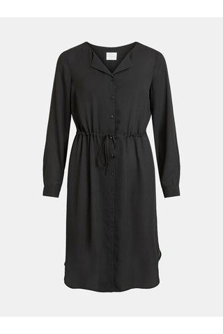 Rochie tip camasa neagra transparenta VILA Lucy