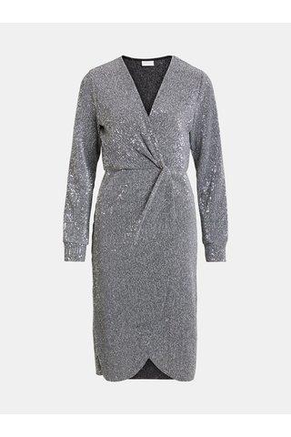 Šaty s flitry ve stříbrné barvě VILA Lorana