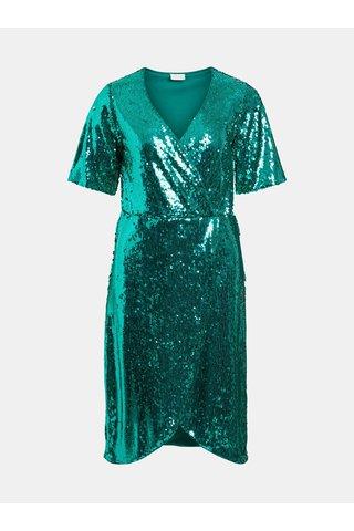 Rochie verde cu paiete VILA Lilja