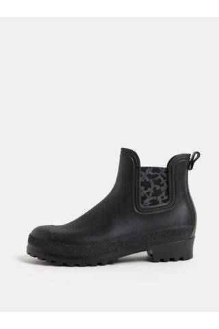 Černé gumové chelsea boty se vzorem  OJJU