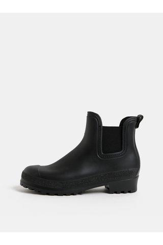 Černé gumové chelsea boty OJJU