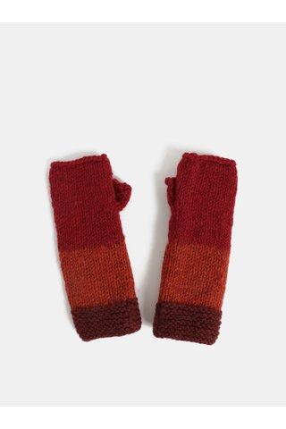 Manusi rosii fara degete din lana Tranquillo Tullu