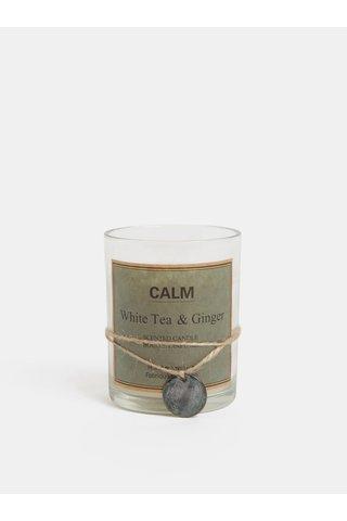 Lumanare alba in sticla cu aroma de ceai alb si ghimbir Kaemingk