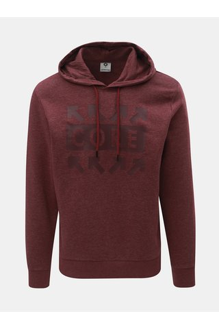 Hanorac bordo melanj cu imprimeu Jack & Jones Marl