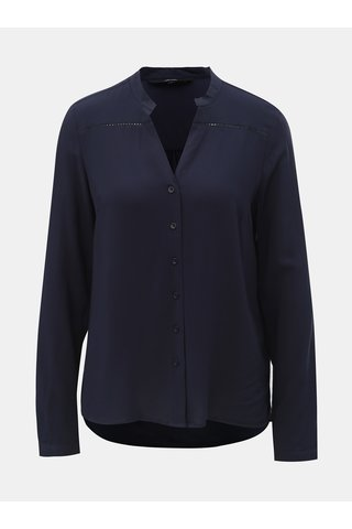 Bluza albastru inchis cu detalii perforate VERO MODA Sandra