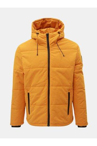 Oranžová prošívaná voděodpudivá zimní bunda Jack & Jones Draw