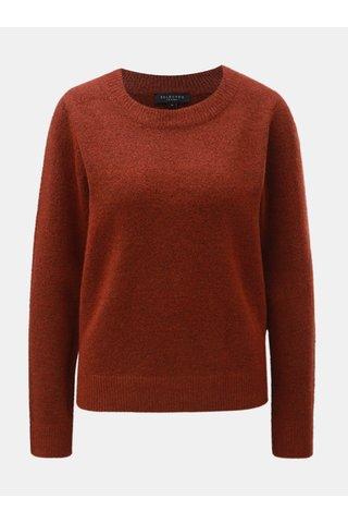 Pulover maro melanj cu amestec de lana Selected Femme Enva