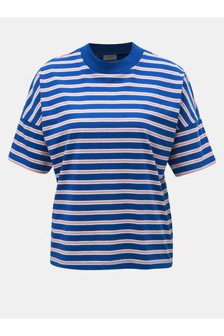 Růžovo-modré pruhované tričko Jacqueline de Yong
