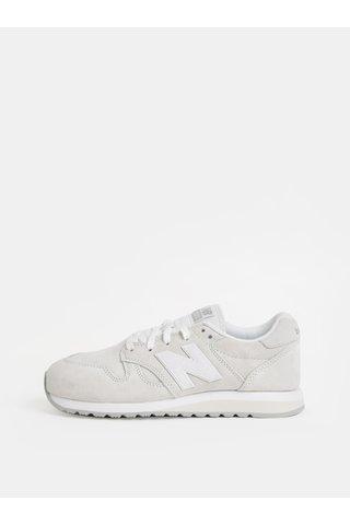 Pantofi sport crem de dama din piele intoarsa cu imprimeu pe calcai New Balance