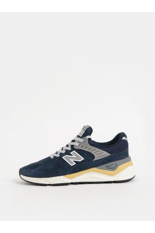 Pantofi sport barbatesti gri-albastru din piele intoarsa New Balance