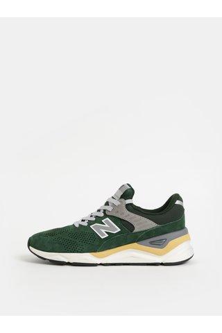 Pantofi sport barbatesti verzi din piele intoarsa New Balance