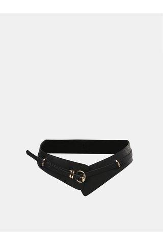 Černý široký koženkový pásek ONLY Dinka