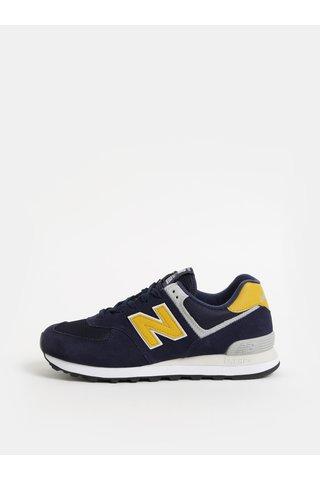Pantofi sport barbatesti albastri din piele intoarsa New Balance