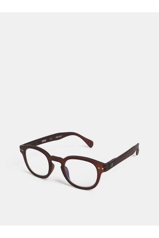 Hnědé unisex ochranné brýle k PC IZIPIZI #C