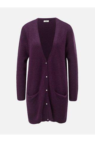 Cardigan lung mov cu amestec de lana Jacqueline de Yong Indiana