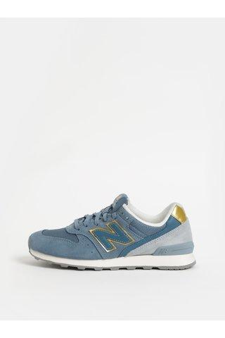 Pantofi sport albastru deschis de dama din piele intoarsa New Balance