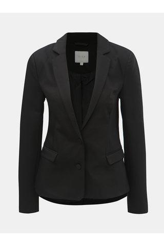 Černé kostýmové sako s vycpávkami na ramenou VILA Delia