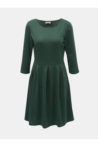 Tmavě zelené šaty s 3/4 rukávem VILA Tinny