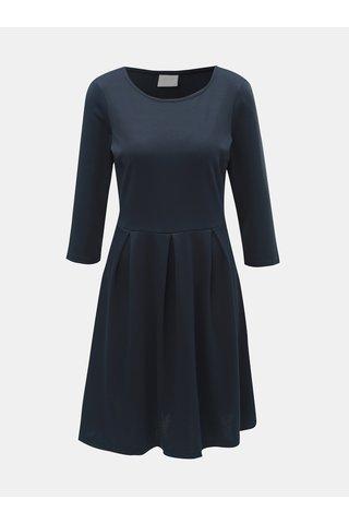 Rochie albastru inchis cu maneci 3/4 VILA Tinny
