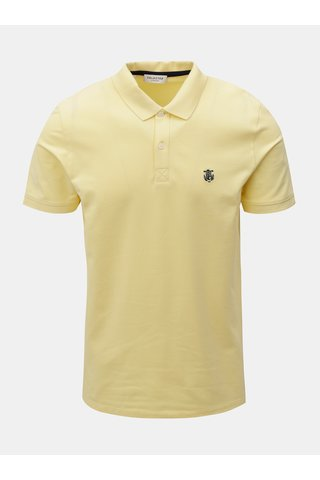 Tricou polo galben cu broderie Selected Homme Haro
