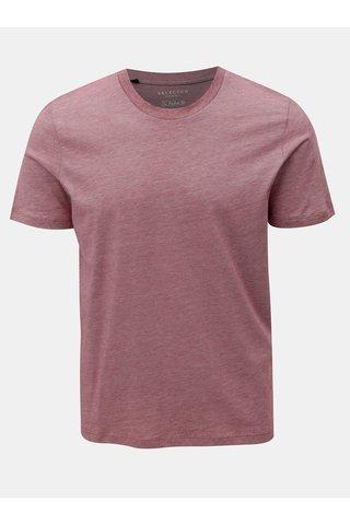 Tricou rosu melanj cu maneci scurte Selected Homme Perfect