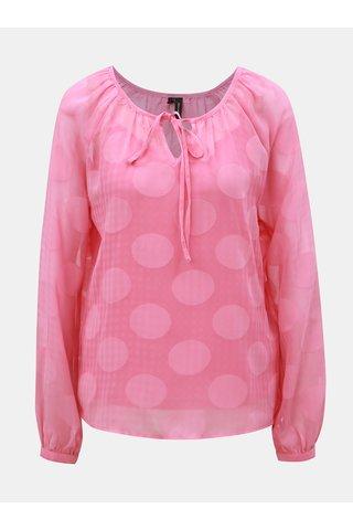 Bluza rosie cu buline si maneci lungi VERO MODA Syra