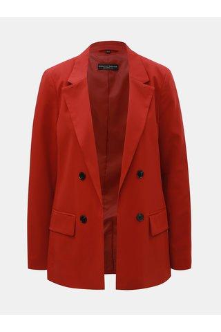 Červené sako s vycpávkami na ramenou Dorothy Perkins