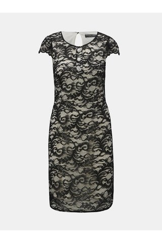 Rochie alb-negru din dantela cu nasturi decorativi Dorothy Perkins