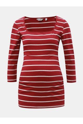 Tricou rosu in dungi pentru femei insarcinate Dorothy Perkins
