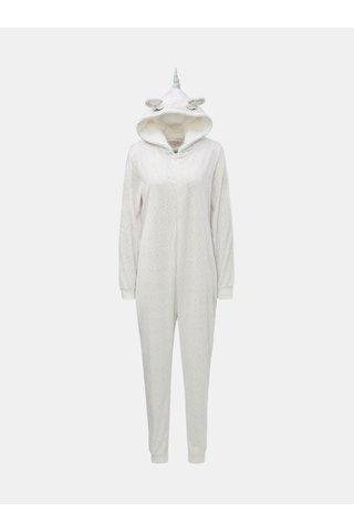 Bílý pyžamový overal s motivem jednorožce Dorothy Perkins