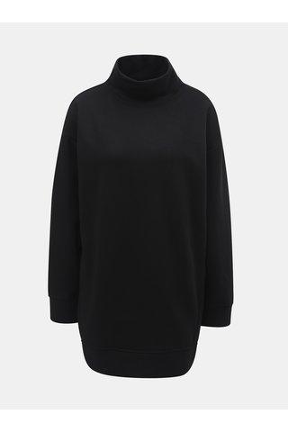 Bluza sport lunga neagra cu guler inalt Jacqueline de Yong Barb