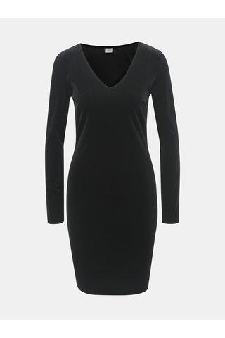 Rochie neagra catifelata cu maneci lungi Jacqueline de Yong Gorgeous