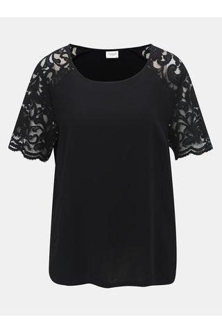 Bluza neagra cu maneci din dantela Jacqueline de Yong Haze