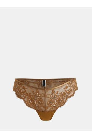 Hnědé krajkové kalhotky ICÔNE