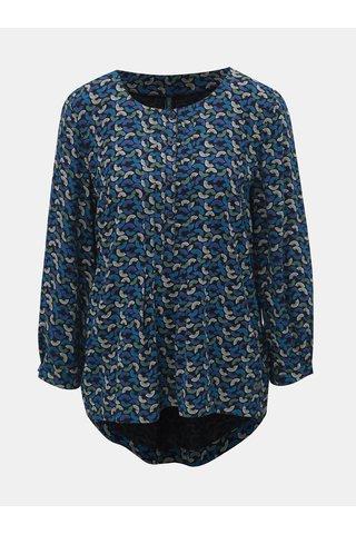 Bluza albastru inchis cu model si maneci 3/4 Tranquillo Damara