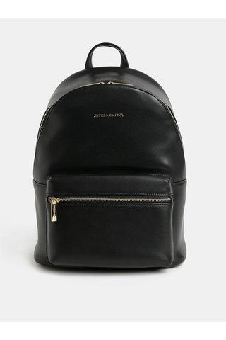 Rucsac negru elegant din piele Smith & Canova