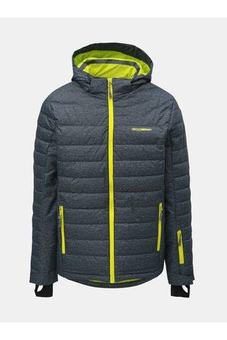 Jacheta barbateasca gri melanj de schi cu detalii neon LOAP Omri