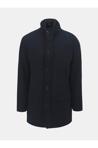 Pardesiu albastru inchis cu amestec de lana si insertie detasabila Selected Homme Hannover