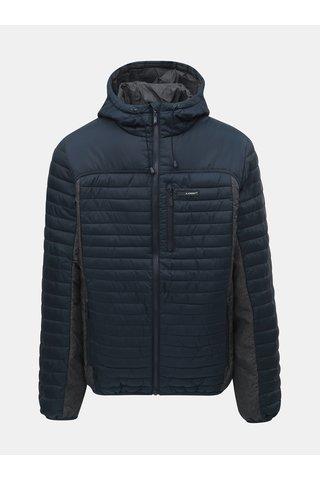 Jacheta barbateasca gri-albastru impermeabila cu gluga LOAP Jackson