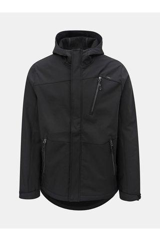 Jacheta barbateasca neagra softshell impermeabila cu gluga LOAP Lombard