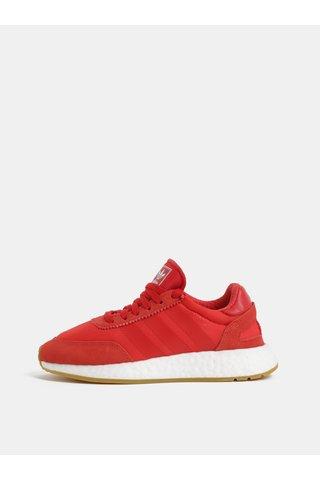 Pantofi sport de dama rosii cu detalii din piele intoarsa adidas Originals