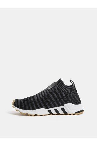 Pantofi sport de dama gri inchis cu detaliu din piele adidas Originals