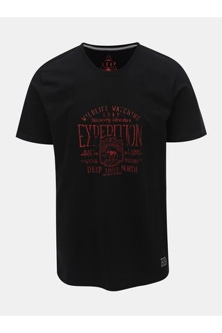 Tricou barbatesc negru cu imprimeu LOAP Betar