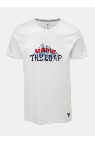 Tricou barbatesc alb cu imprimeu LOAP Busto