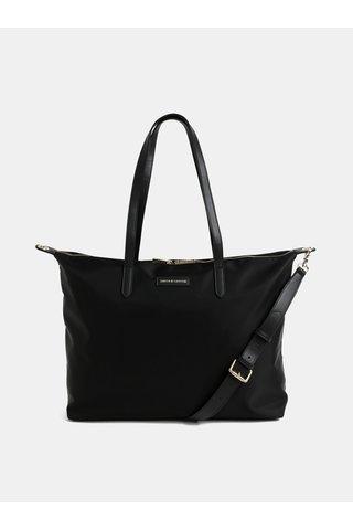 Černá cestovní taška s kapsou na notebook Smith & Canova