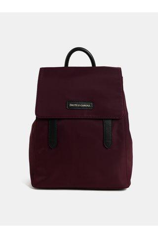 Vínový elegantní batoh s klopou Smith & Canova