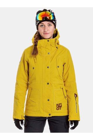 Geaca galbena impermeabila de dama de snowboard NUGGET Anja