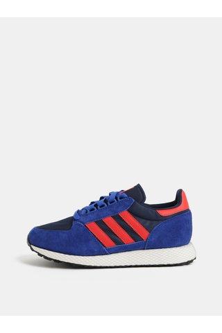 Pantofi sport barbatesti rosu-albastru cu detalii din piele intoarsa adidas Originals Forest Grove
