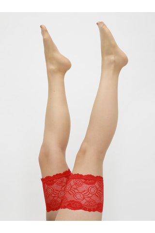 Punčochy s červenou krajkou Obsessive